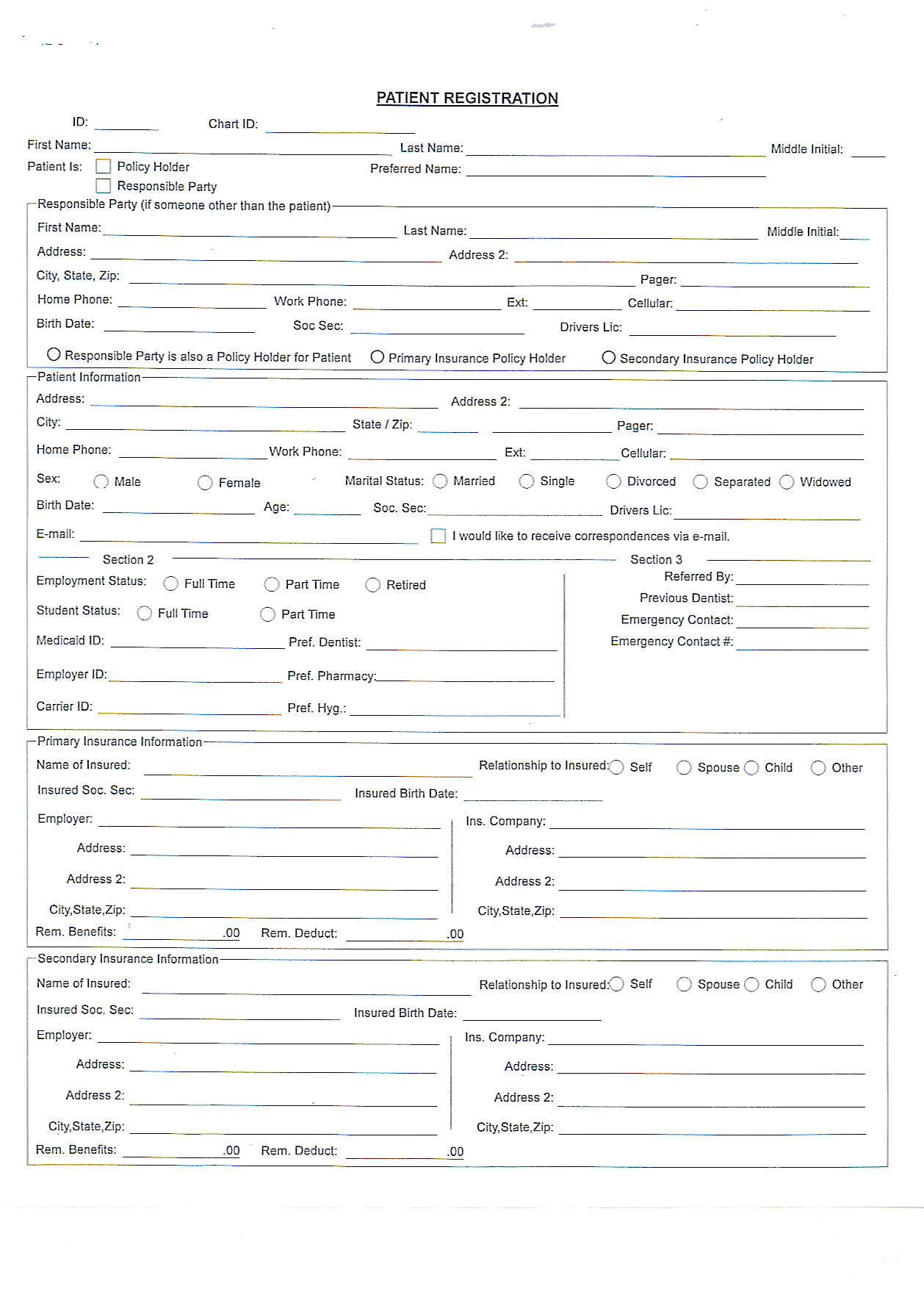 Superb Printable Patient Forms. Printable Forms. Patient Registration Form (PDF)  ...
